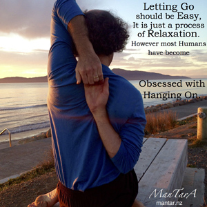 Letting go-hanging on