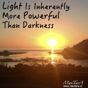 Light Is inherently more powerful than darkness